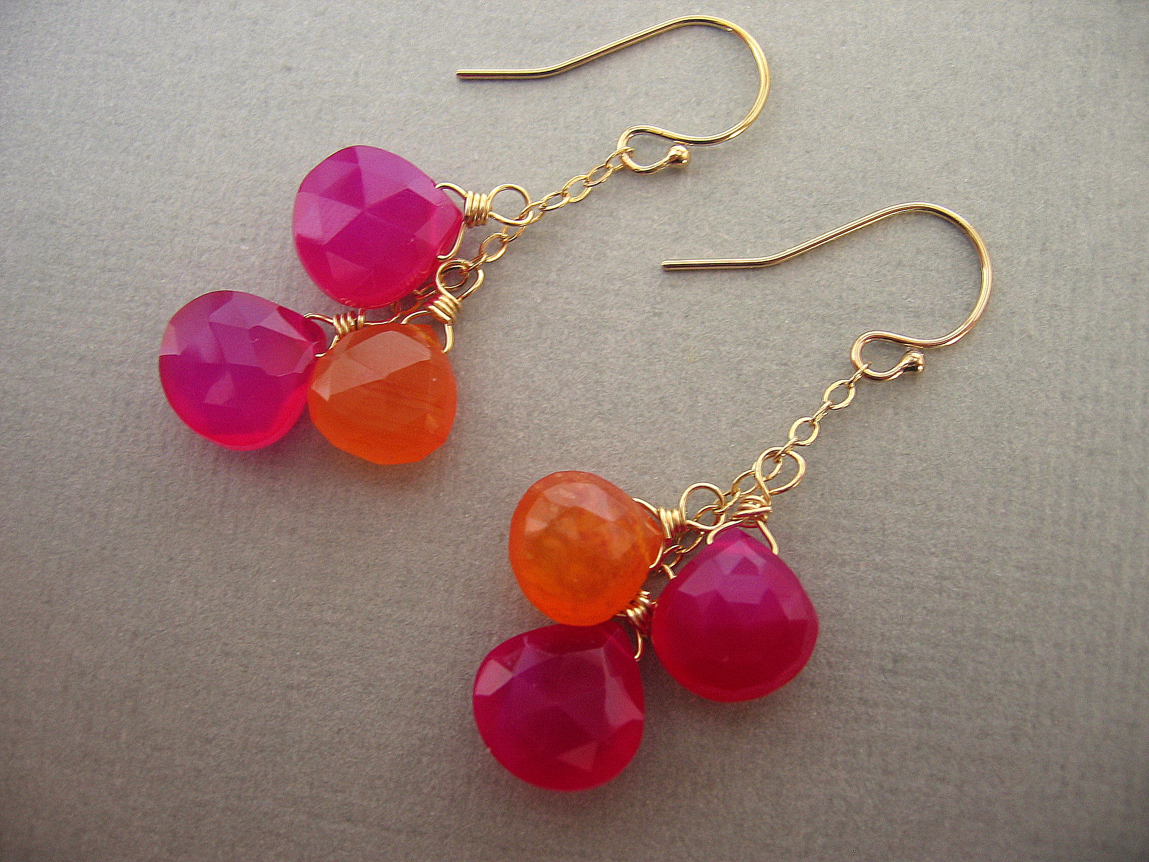 earrings pin fuschia pinterest chandelier jewelry